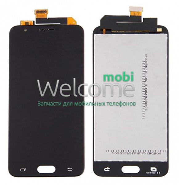 Модуль Samsung SM-G570F Galaxy J5 Prime black с регулируемой подсветкой дисплей экран, сенсор тач скрин самсунг ж5 прайм