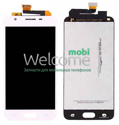 Модуль Samsung SM-G570F Galaxy J5 Prime white с регулируемой подсветкой дисплей экран, сенсор тач скрин самсунг ж5 прайм, фото 2