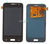 Модуль Samsung SM-J120 Galaxy J1 black с регулируемой подсветкой дисплей экран, сенсор тач скрин самсунг гэлэкси ж1