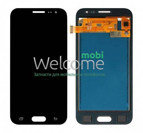 Модуль Samsung SM-J200H Galaxy J2 black с регулируемой подсветкой дисплей экран, сенсор тач скрин самсунг гэлэкси ж2, фото 2