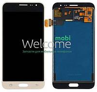 Модуль Samsung SM-J320F Galaxy J3 (2016) gold с регулируемой подсветкой дисплей экран, сенсор тач скрин самсунг гэлэкси ж3