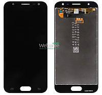Модуль Samsung SM-J330F Galaxy J3 (2017) black с регулируемой подсветкой дисплей экран, сенсор тач скрин самсунг гэлэкси ж3