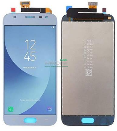 Модуль Samsung SM-J330F Galaxy J3 (2017) blue с регулируемой подсветкой дисплей экран, сенсор тач скрин самсунг гэлэкси ж3, фото 2