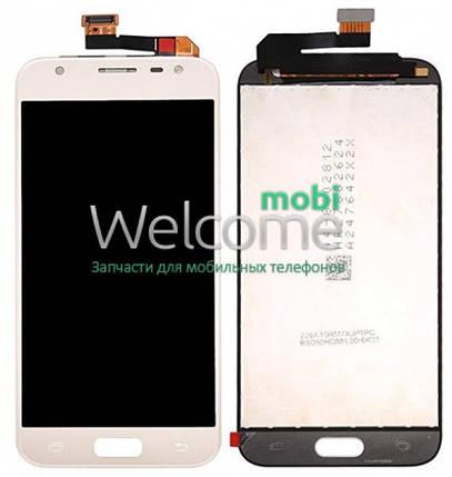 Модуль Samsung SM-J330F Galaxy J3 (2017) gold с регулируемой подсветкой дисплей экран, сенсор тач скрин самсунг гэлэкси ж3, фото 2