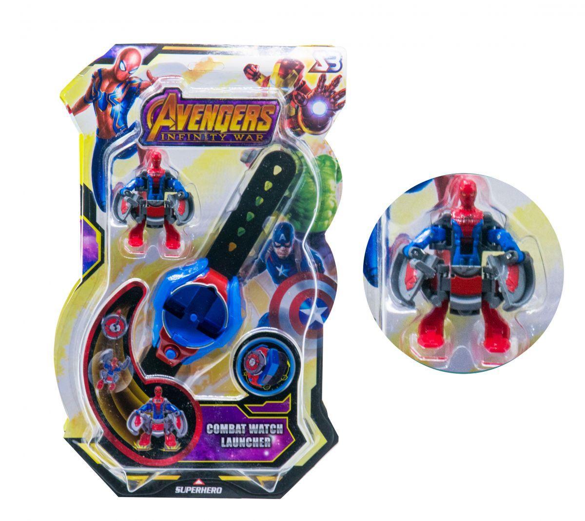 Часы-трансформеры герои Marvel Спайдермэн Spiderman scs scs