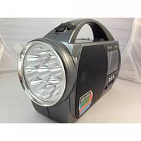 Радио-фонарь с функцией МР3-воспроизведения MD-2812, 2 режима яркости освещения, эргономичная ручка, FM-AM-SW