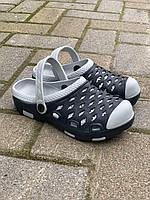 Детские сабо кроксы черный\серый оптом Украина ( 26 - 32 ), фото 1