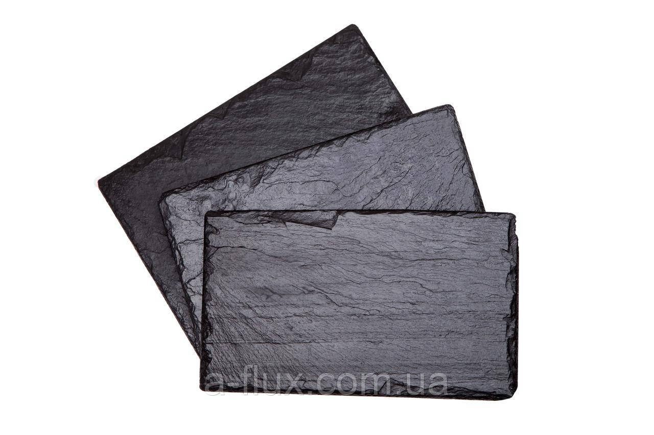 Поднос (сланец) из натурального камня прямоугольный 40*30см 400/300