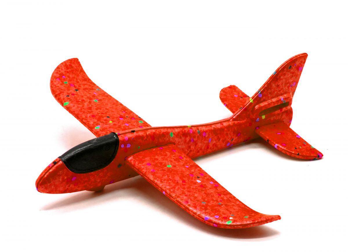 Самолет планер Пенолет 48 см Красный sco