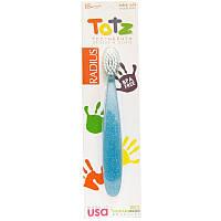 """Детская зубная щетка RADIUS """"Totz Toothbrush"""" от 18 месяцев, экстра-мягкая, голубая"""
