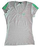 Футболка женская спортивная трикотаж. Зеленый лампас, фото 3