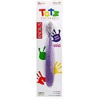 "Детская зубная щетка RADIUS ""Totz Toothbrush"" от 18 месяцев, экстра-мягкая, фиолетовая"