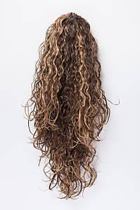 Волнистые шиньоны на крабе №1.цвет мелирование темно-русый с пшеничным