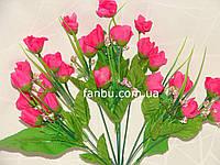 Искусственный большой букет роз двуцветный №1 (ярко розовый)