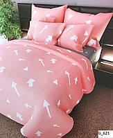 Семейный комплект постельного белья с необычными стрелками.