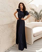 Очаровательное шелковое платье в пол, фото 3