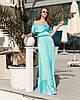 Очаровательное шелковое платье в пол, фото 4
