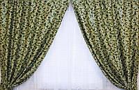 Комплект штор без ламбрекена Катрин-203 зеленый