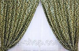 Комплект штор без ламбрекену Катрін-203 зелений