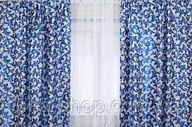 Комплект штор без ламбрекену Катрін-203 блакитний