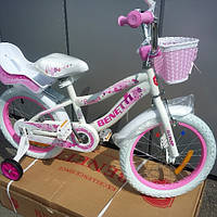 Детский велосипед 16 Benetti Luna бело - розовый