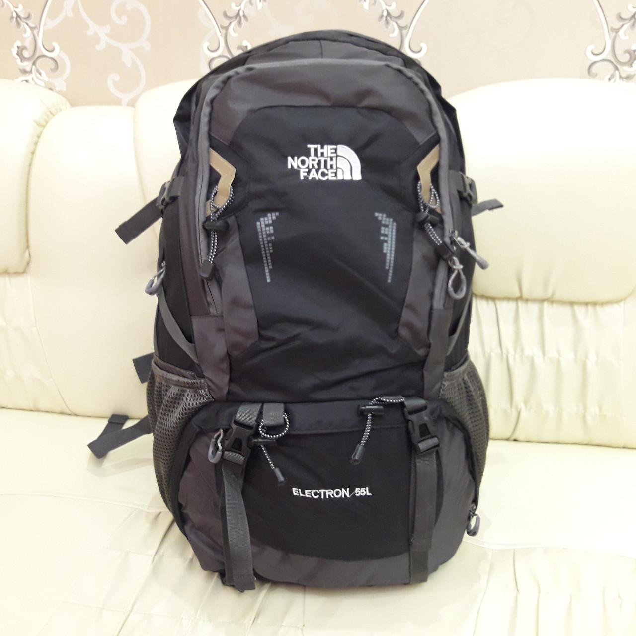 Рюкзак туристический North Face 55 литров походный Black