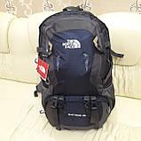 Рюкзак туристический North Face 55 литров походный Black, фото 2