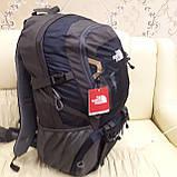 Рюкзак туристический North Face 55 литров походный Black, фото 3