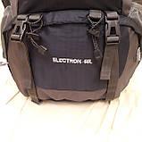Рюкзак туристический North Face 55 литров походный Black, фото 4