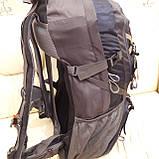 Рюкзак туристический North Face 55 литров походный Black, фото 8