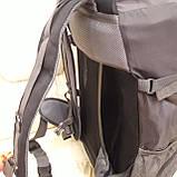 Рюкзак туристический North Face 55 литров походный Black, фото 5