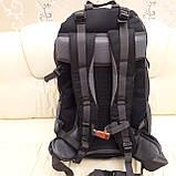 Рюкзак туристический North Face 55 литров походный Black, фото 9