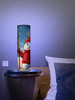 Дизайнерский светильник  «Новогодний снеговик»