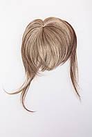 Накладная челка,цвет мелирование русый и карамельный блонд