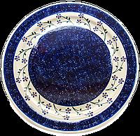 Керамическое блюдо Ø32 с рантом Cobalt shine