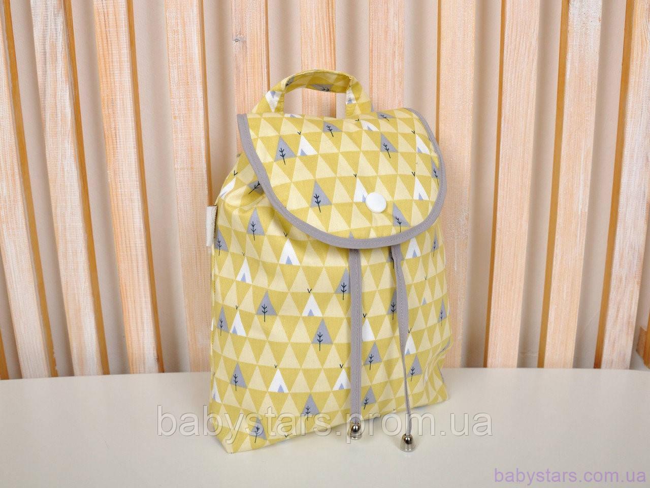 "Детские рюкзаки ""Елочки желтые"""