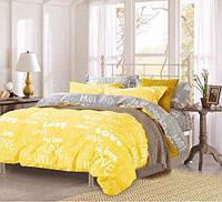 """Яркое постельное белье семейного размера с красивыми надписями """" Love"""""""