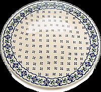 Керамическое блюдо Ø32 с рантом Сornflower song