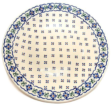 Керамическое блюдо Ø32 с рантом Сornflower song, фото 2