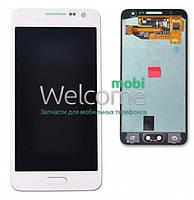 Модуль Samsung SM-A300H Galaxy A3 white с регулируемой подсветкой дисплей экран, сенсор тач скрин самсунг