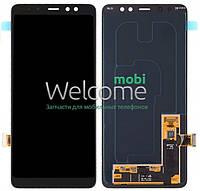 Модуль Samsung SM-A730H Galaxy A8+ (2018) black с регулируемой подсветкой дисплей экран, сенсор тач скрин самсунг гэлэкси а8+