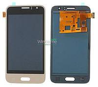 Модуль Samsung SM-J120 Galaxy J1 gold с регулируемой подсветкой дисплей экран, сенсор тач скрин самсунг гэлэкси ж1