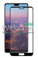 Защитное стекло HUAWEI P20 Full Glue (0.3 мм, 2.5D, с олеофобным покрытием) black, хуавей п20 р20