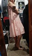 Платье женское персиковое