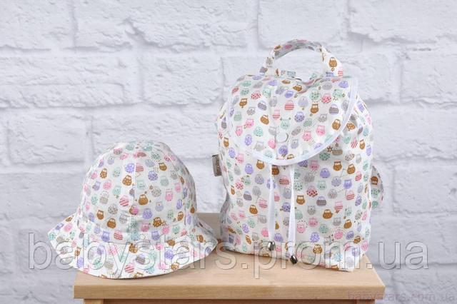 детский рюкзак с панамкой