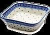 Салатник квадратный керамический 21 х 21 Цветочный Прованс