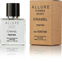 Туалетная вода Chanel Allure Homme sport EDT 50ML Orign tester, эко упаковка