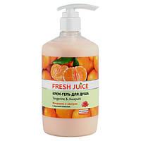 Fresh Juice крем-гель для душу Мандарин і авапуі збалансовують вологу 750 мл