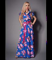 Платье женское макси Платья яркие летние