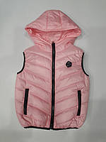 Детская жилетка на девочку утеплитель синтепон 116-140 см цвета разные